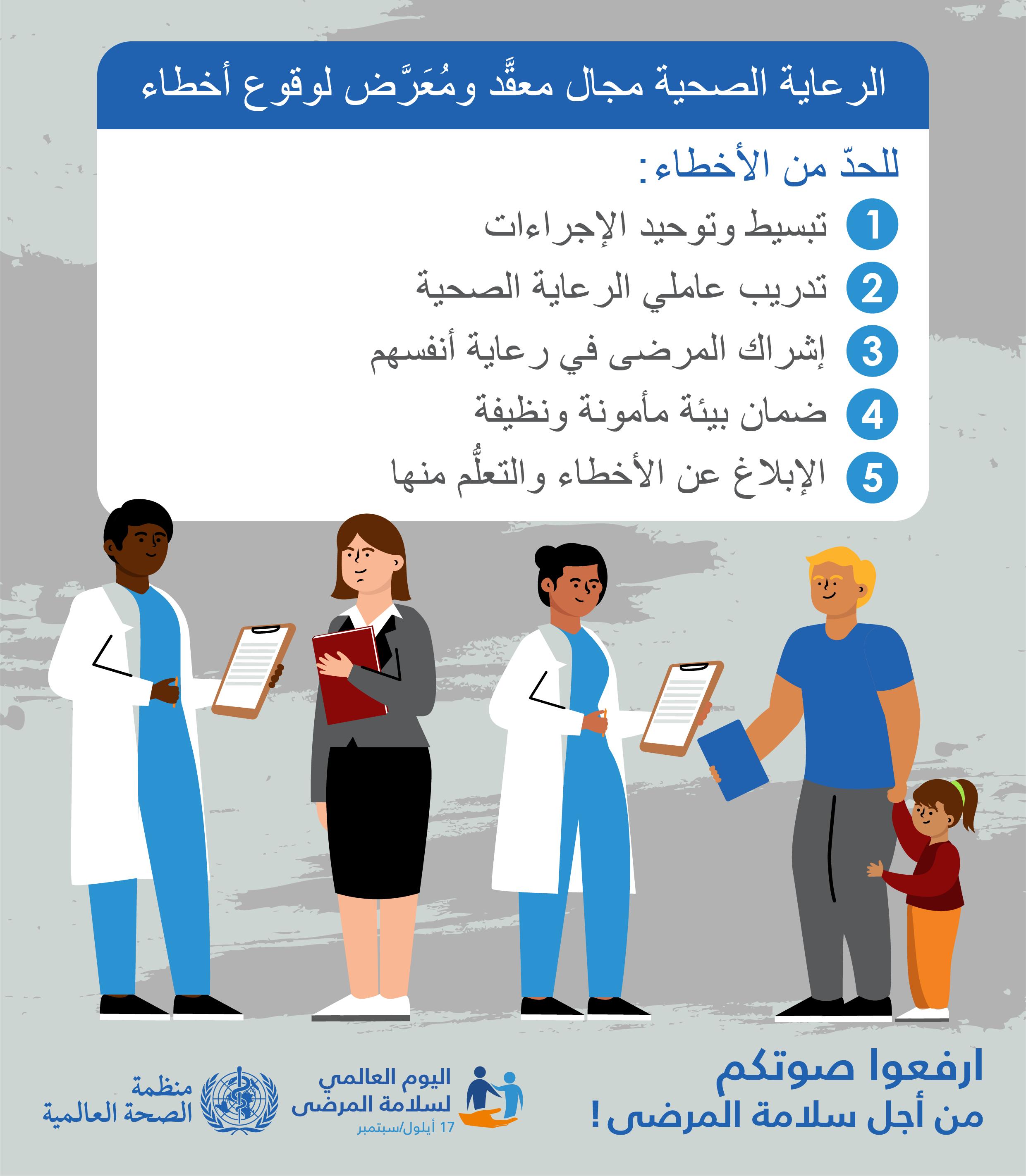 سبب الاحتفال في اليوم العالمي لسلامة المرضى