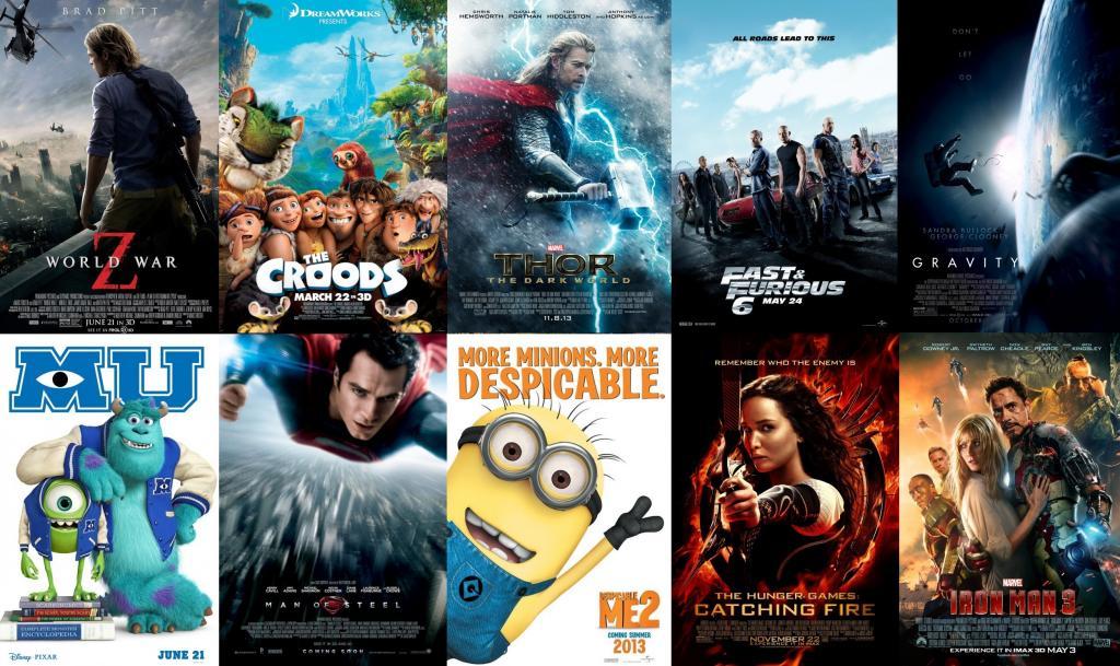 ما هي الأفلام التي حصدت أعلى الإيرادات في العالم عام 2013؟