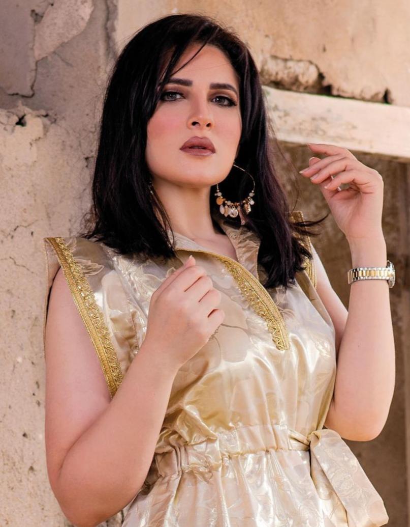 4 هبة الدري بالشعر المنسدل لرمضان -الصورة من حسابها على الانستغرام