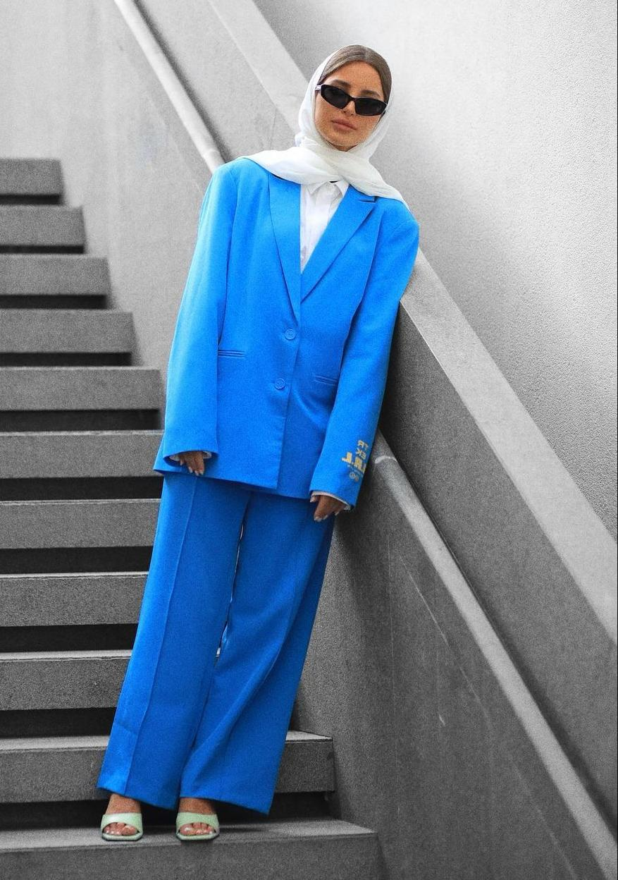 البدلة الرسمية من فاطمة حسام -الصورة من الانستغرام