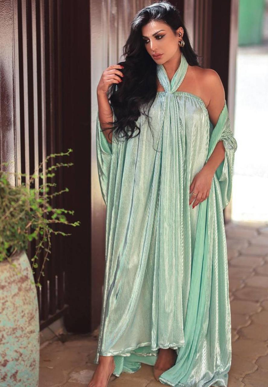 امل العوضي بفستان بيليسي -الصورة من الانستغرام