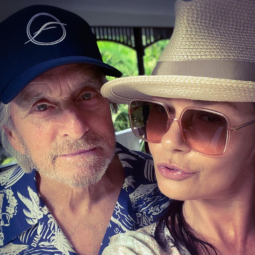 حافظت كاثرين وكذلك مايكل على روح الدعابة والمرح بينهما-الصورة من أنستغرام