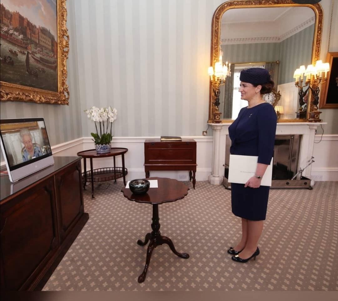 الملكة إليزابيث على شاشة عبر رابط فيديو من قلعة وندسور–الصورة من إنستغرام