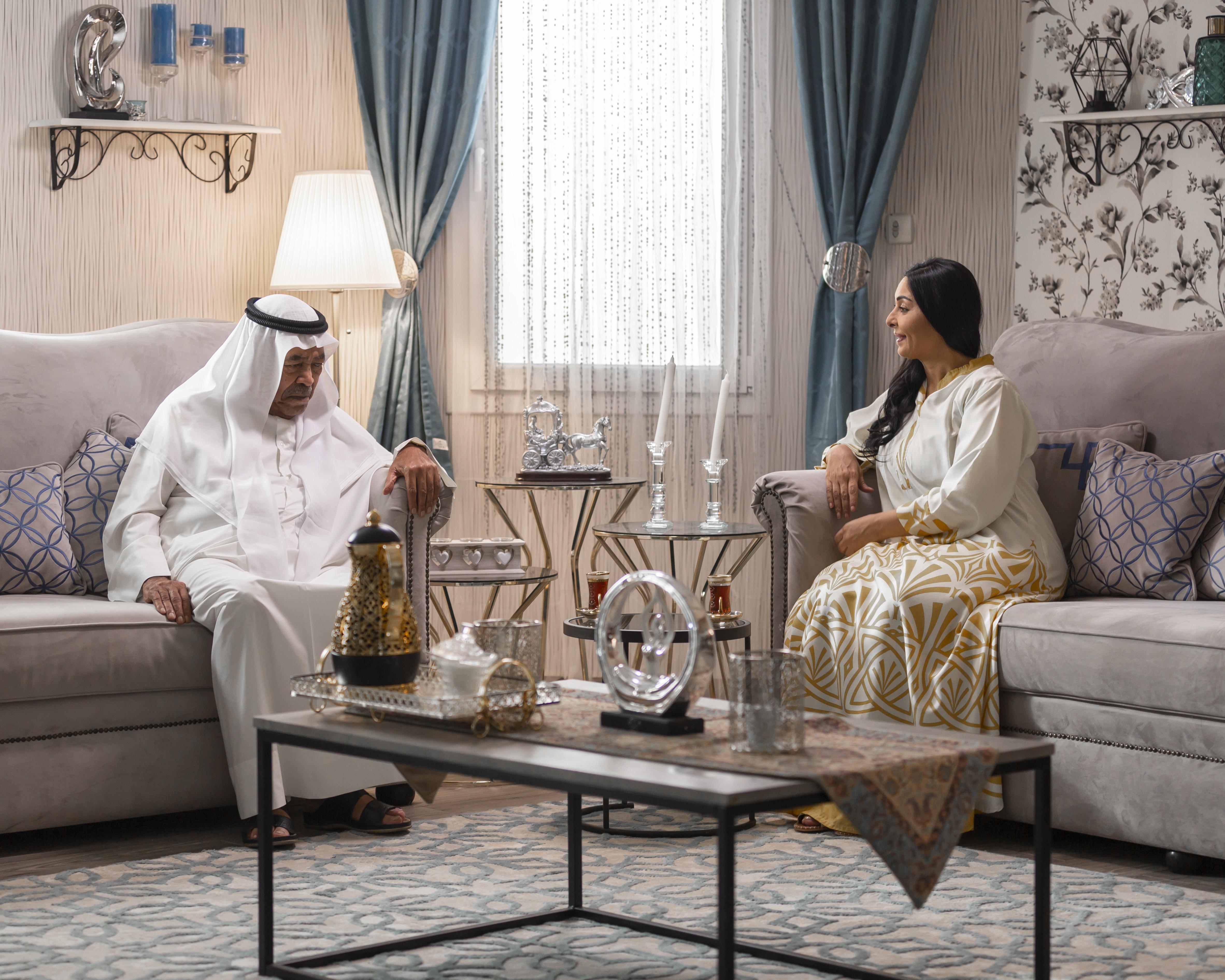 سعد الفرج ونور من مسلسل مطر صيف