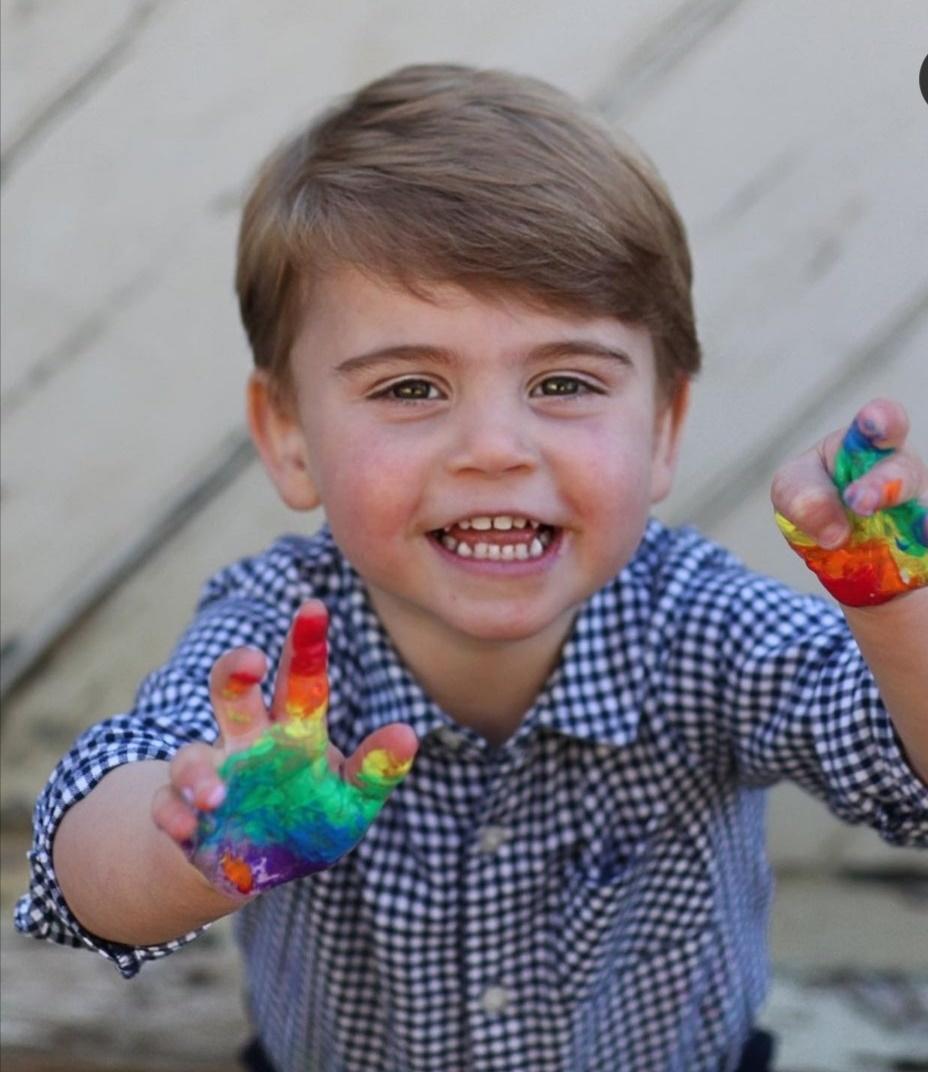 صورة الأمير لويس في يوم ميلاده العام الماضي -الصورة من إنستغرام