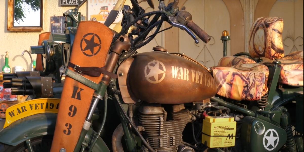 الدراجة الحربية القديمة