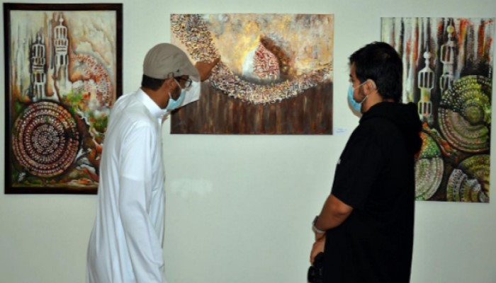 جزء من المعرض الفني التشكيلي