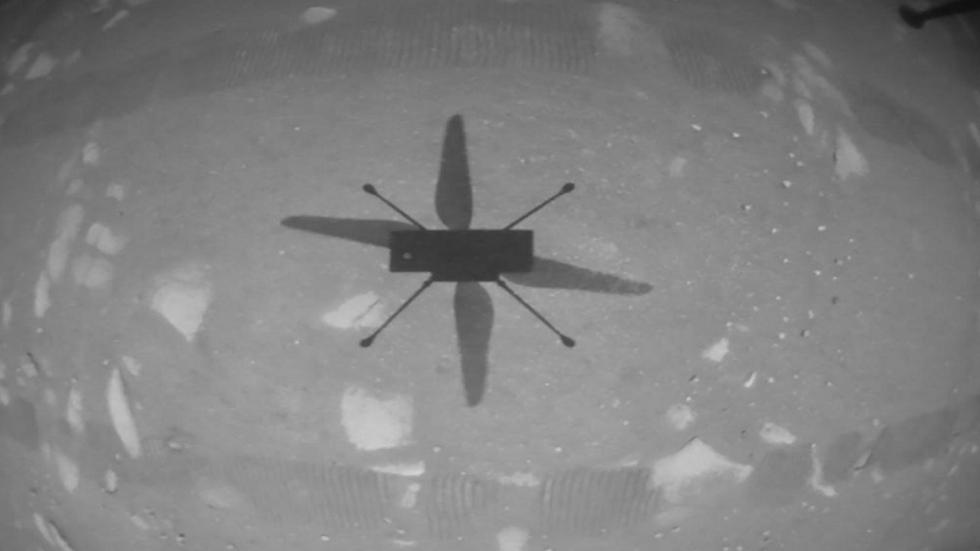 شكل المروحية في المريخ
