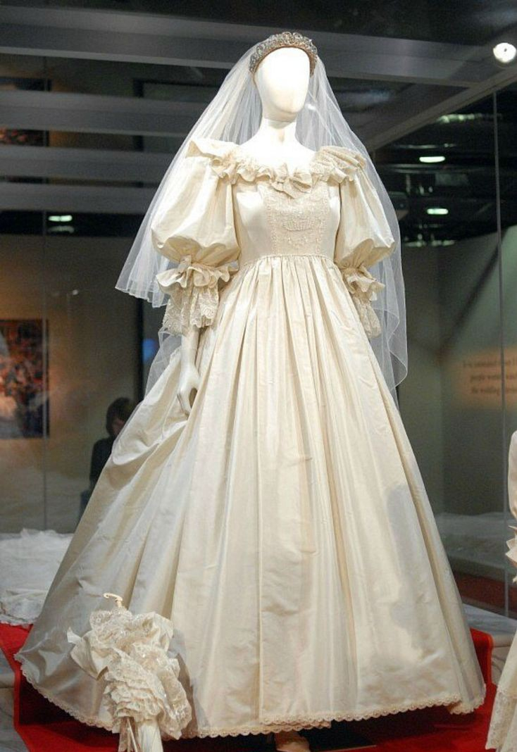 فستان زفاف الأميرة ذو الأكمام المنفوخة – الصورة من Pinterest