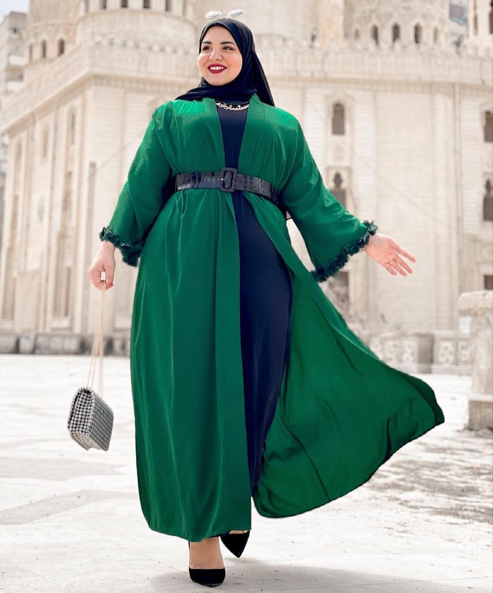 ياسمين وجدي بتنسيق رمضاني لذوات الجسم الممتلئ -الصورة من حسابها على الانستغرام