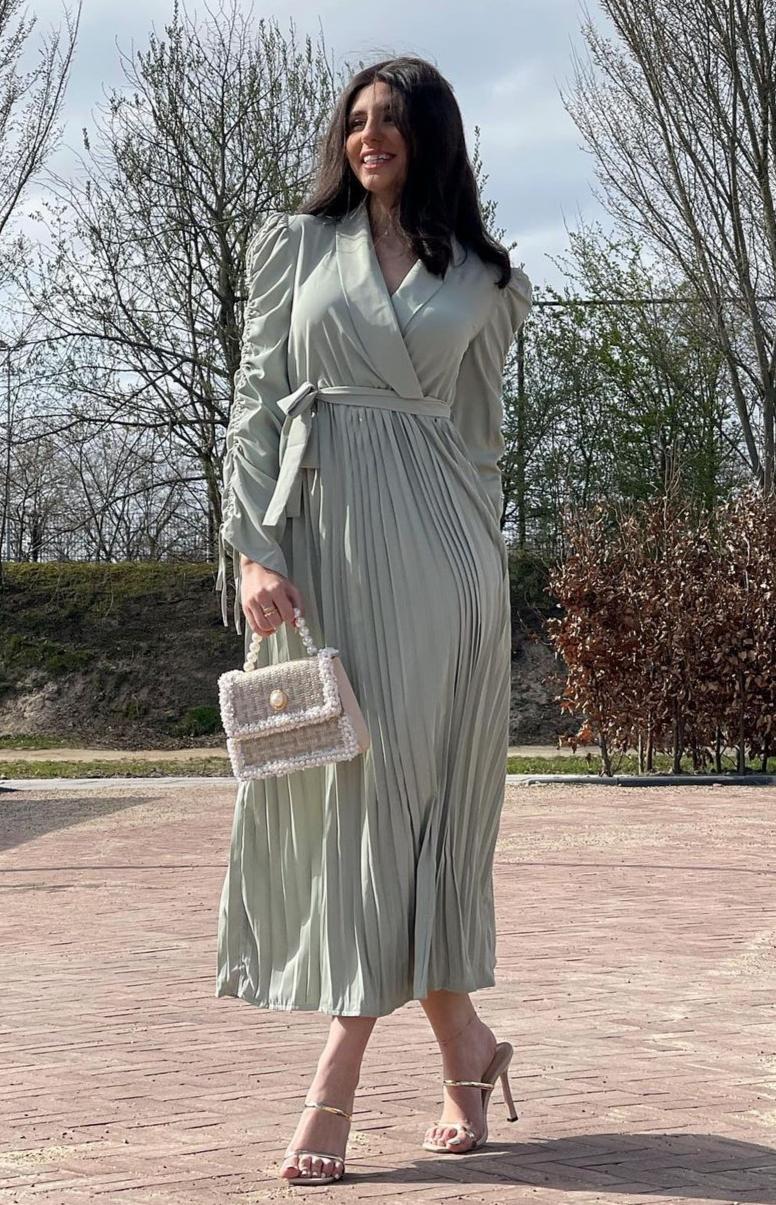 لين مرجان بفستان رمضاني -الصورة من حسابها على الانستغرام