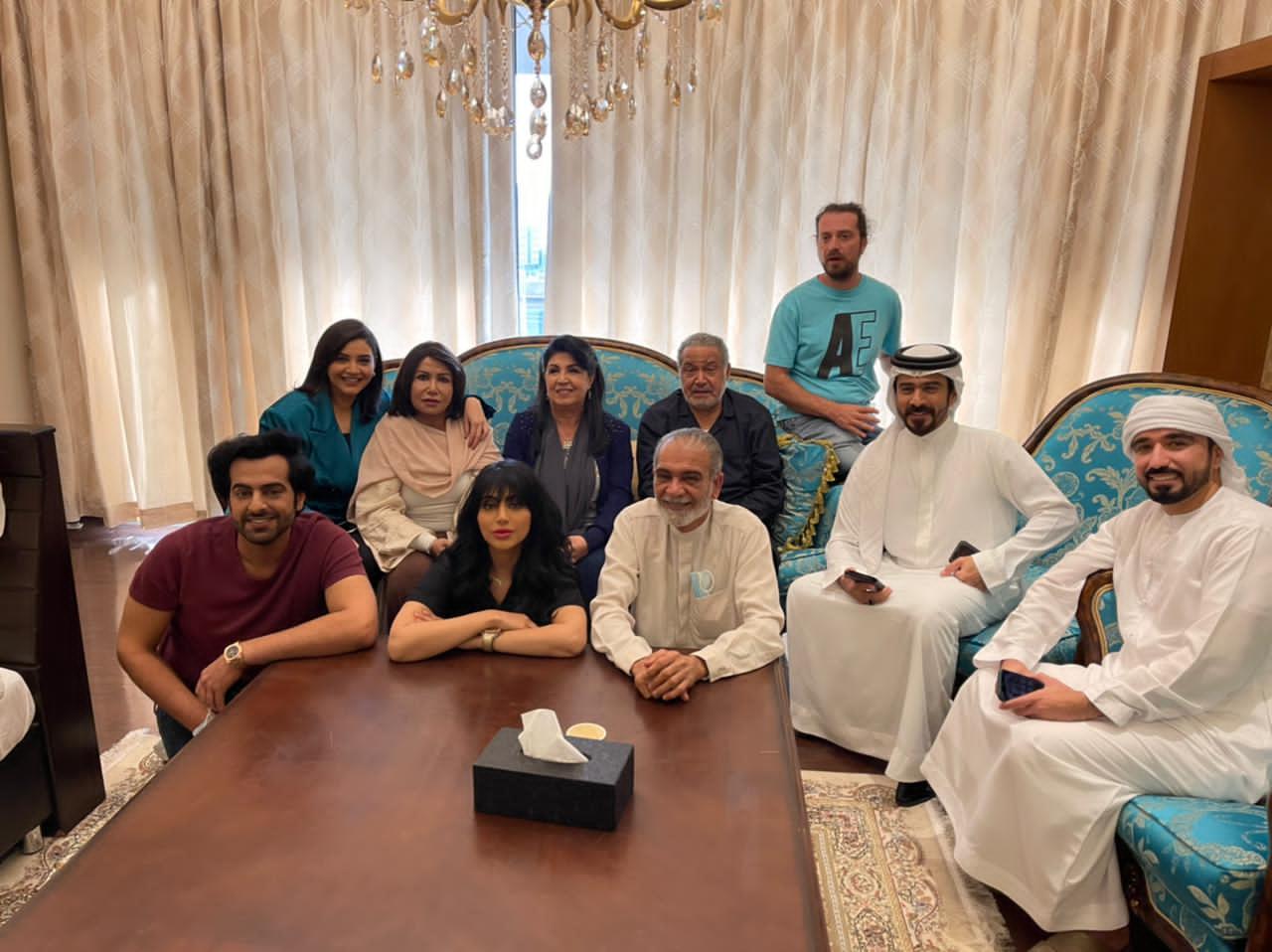 مريم الغامدي في كواليس مسلسل عود حي مع فريق العمل