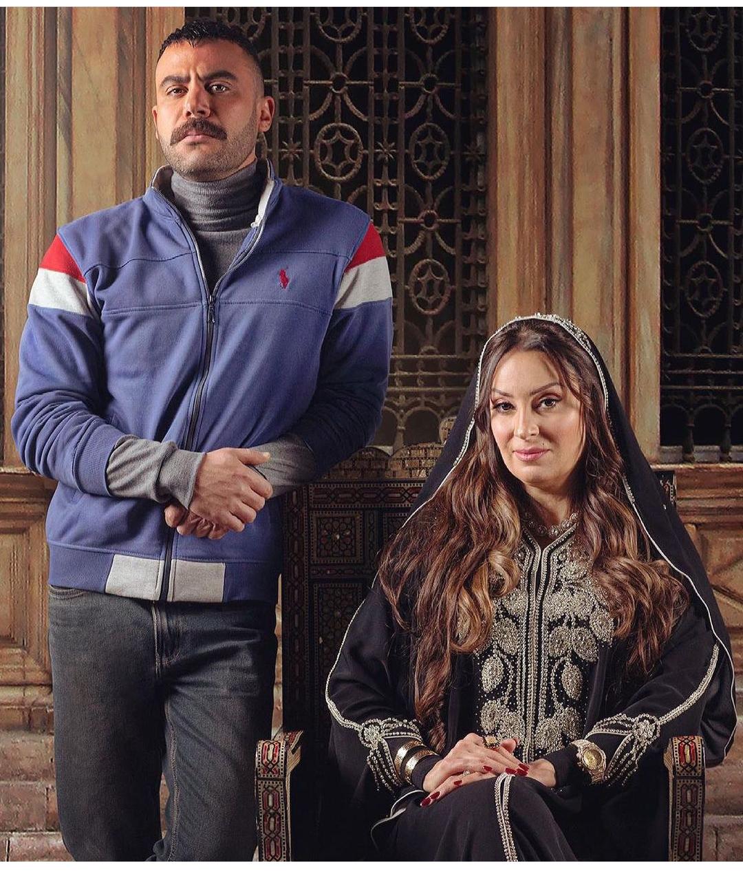 نرمين الفقي ومحمد إمام في مسلسل النمر