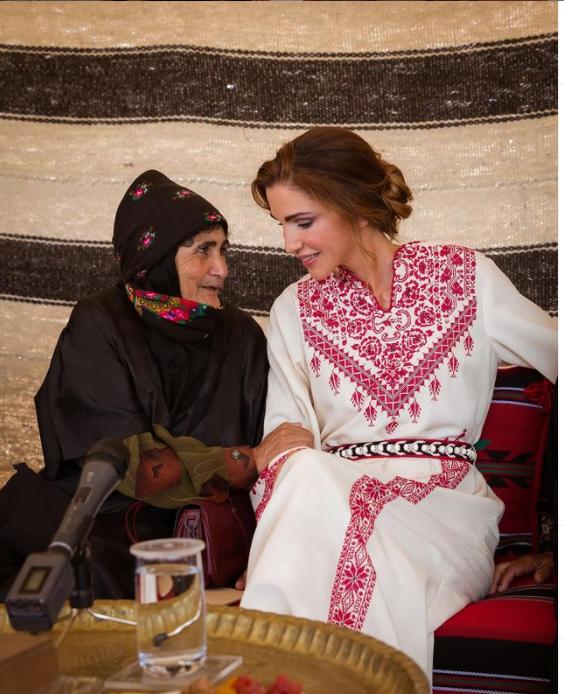 من حساب الملكة رانيا على انستغرام