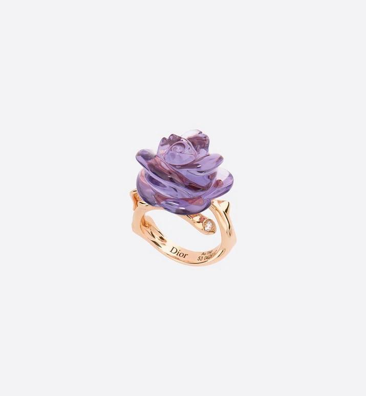 خاتم الوردة المتبلورة من ديور Dior