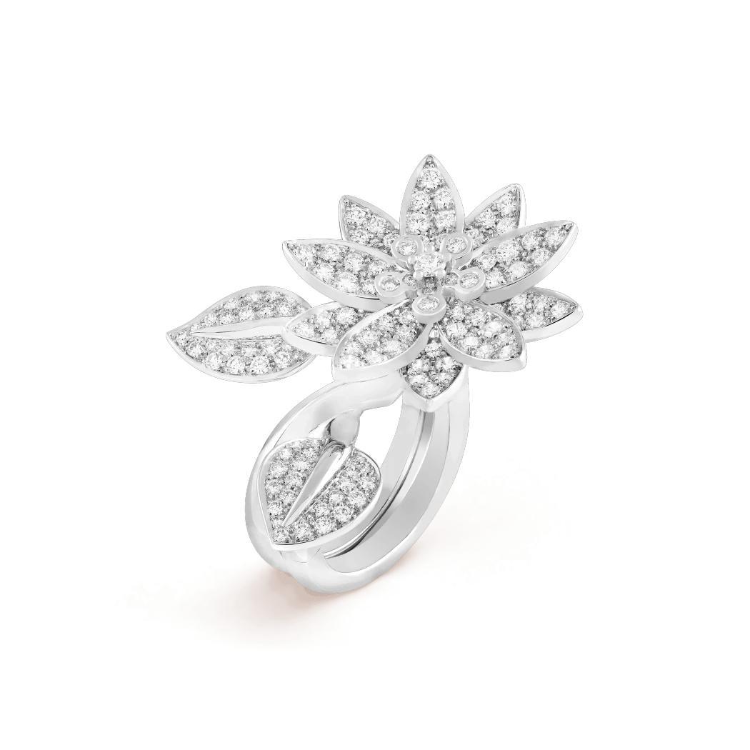 خاتم زهرة اللوتس، من فان كليف آند آربلز Van Cleef & Arpels