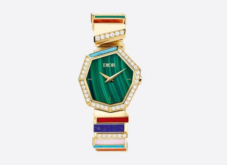 ساعة بأحجار ملونة من علامة ديور«Dior»