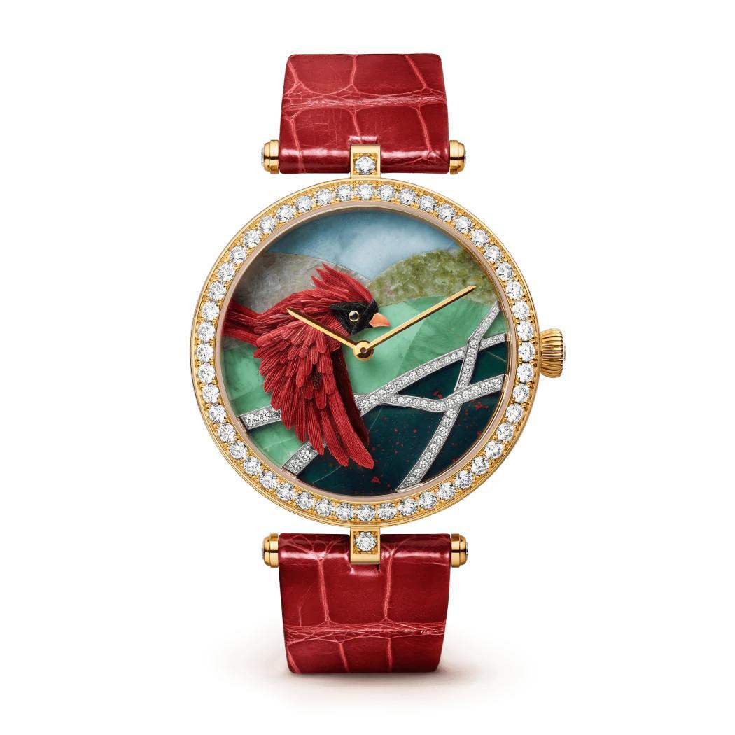 ساعة لايدي آربلز كاردينال كارمين من فان كليف أند آربلز Van Cleef & Arpels