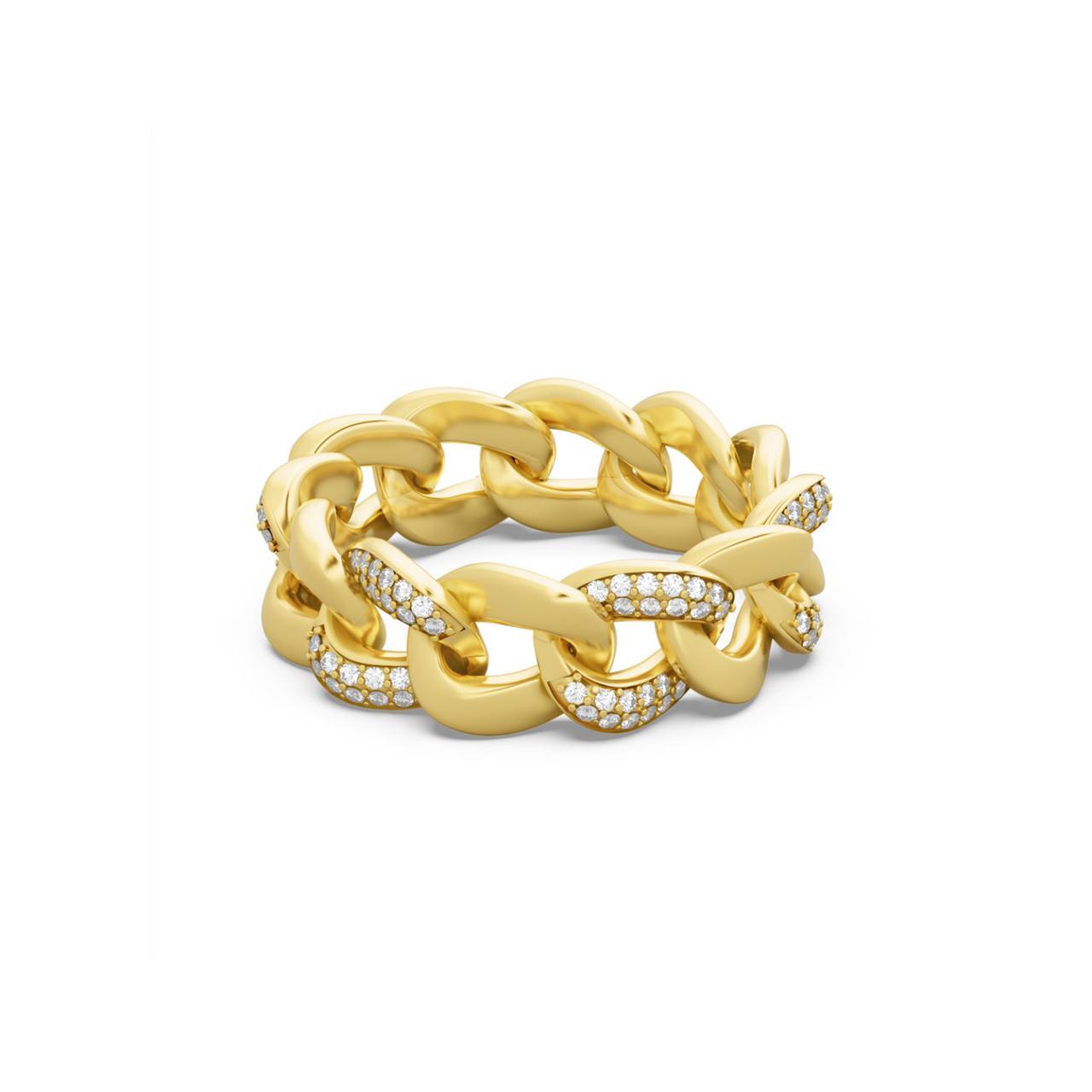 خاتم كوبا بالذهب والألماس من علامة أكوا جويلز Aquae Jewels