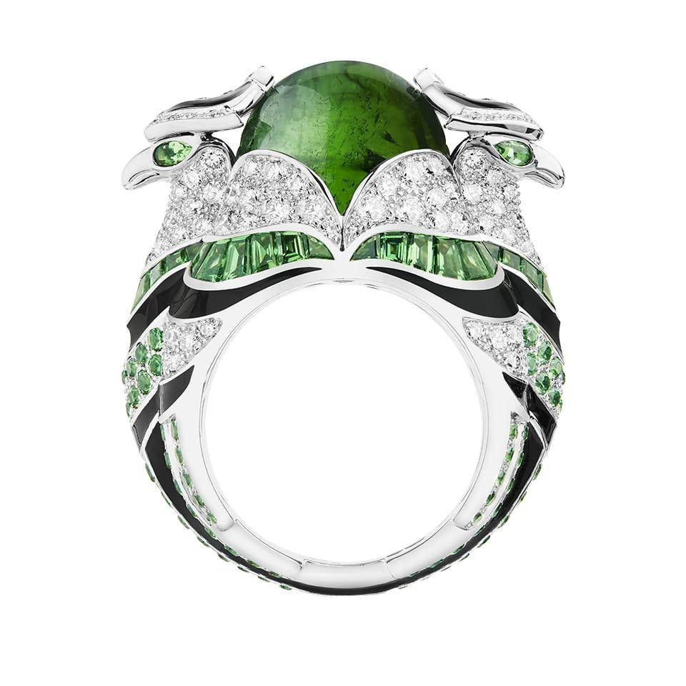 خاتم النسر بحجر التورمالين من دار بوشرون «Boucheron»