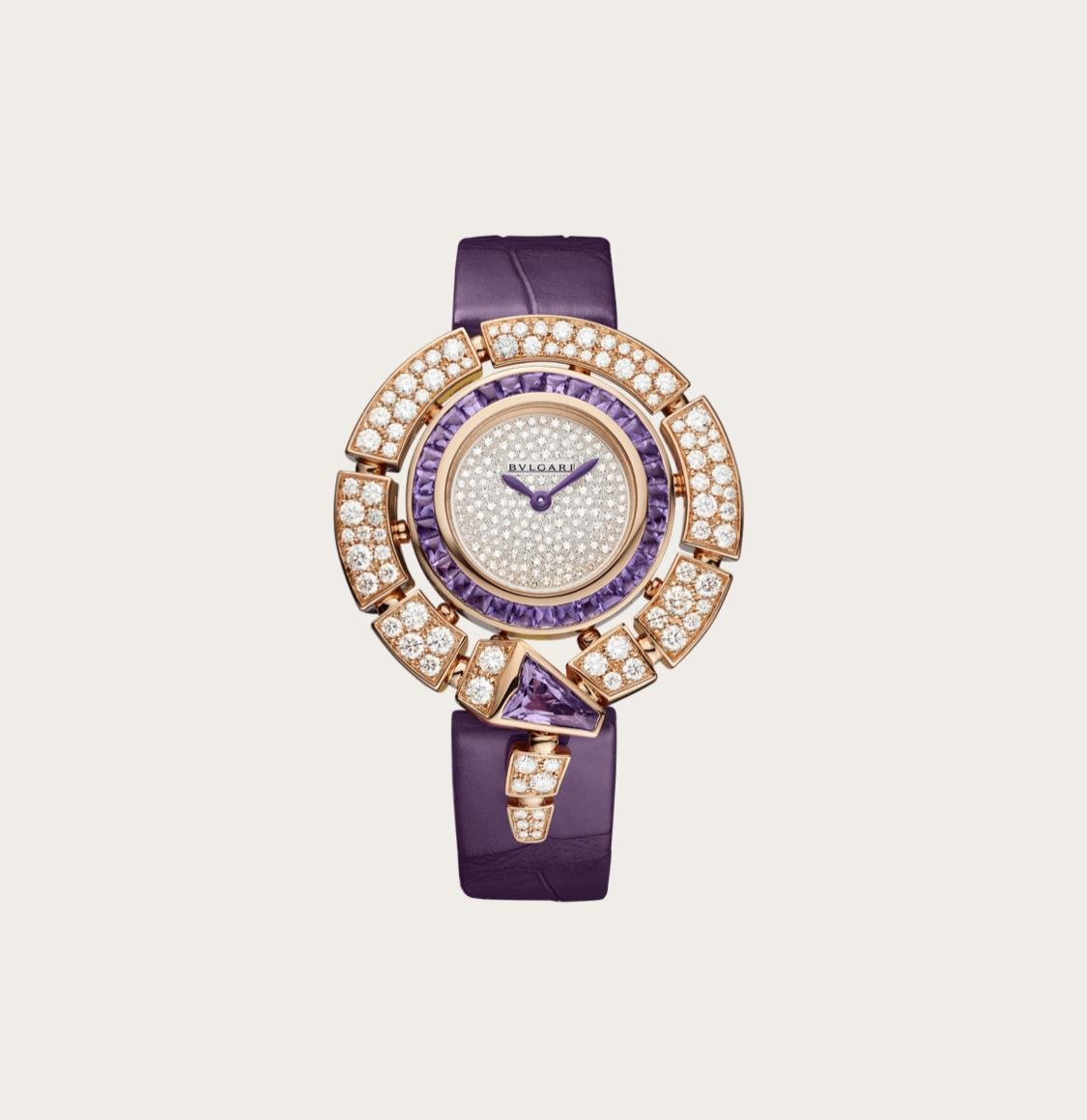 ساعة سيربنتي الأرجوانية من بولغري Bvlgari