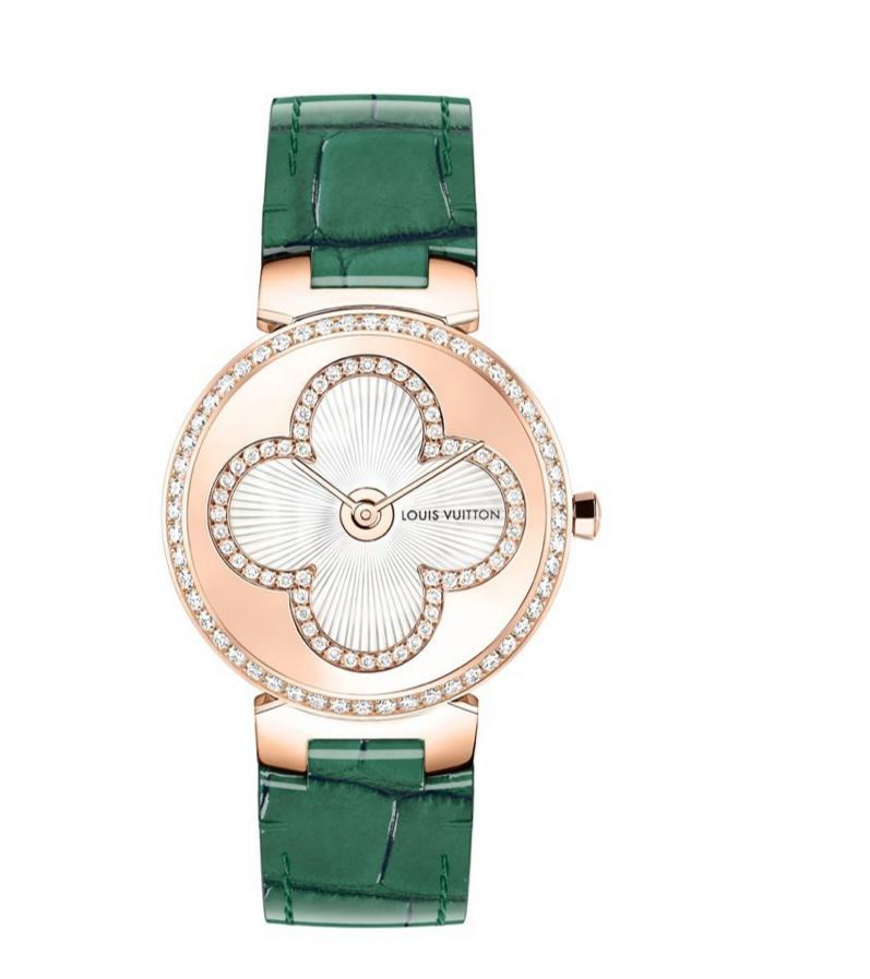 ساعة خضراء من لويس فويتون Louis Vuitton