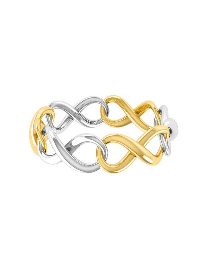 خاتم سلسلة من الذهب الأصفر والأبيض من علامة مس إل Miss L