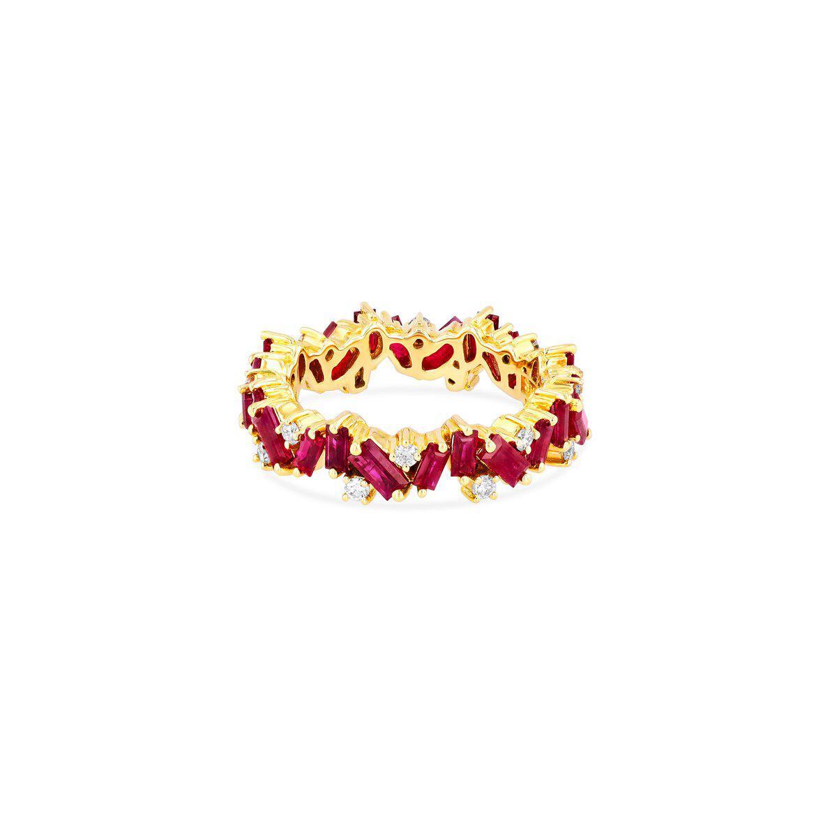 خاتم سلسلة مرصع بالأحجار الكريمة من علامة سوزان كلان Suzanne kalan