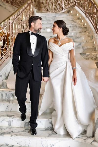 مرام زبيدة متألقة بطقم Dragon Suite من معوض Mouawad في يوم زفافها