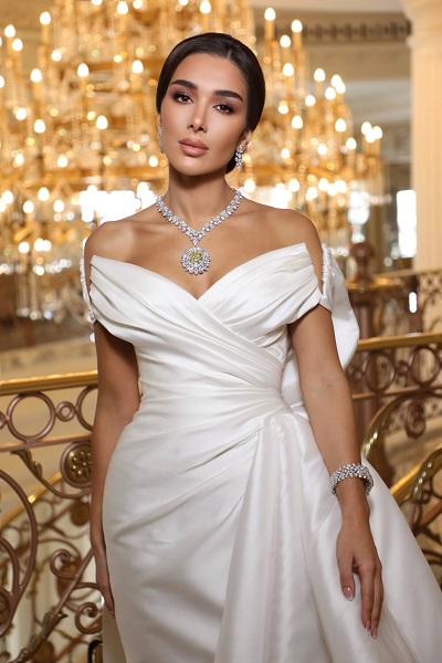 مرام زبيدة في يوم زفافها بمجوهرات معوض Mouawad