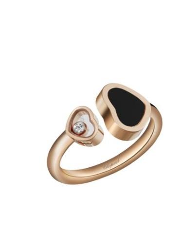 خاتم مرصَّع بالأحجار الكريمة السوداء من شوبارد «Chopard»