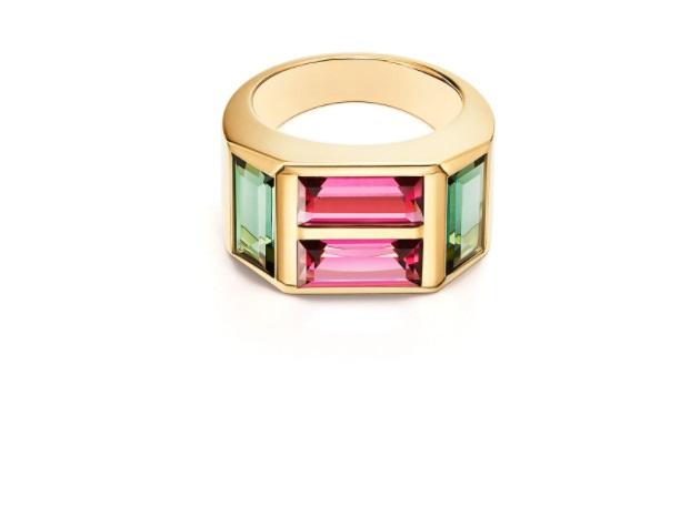 خاتم من التورمالين الأخضر، من تيفاني آند كو Tiffany & Co