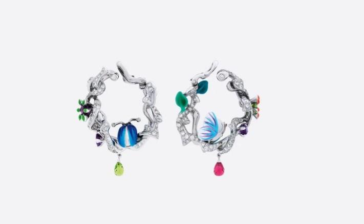 أقراط من التورمالين، من ديور Dior