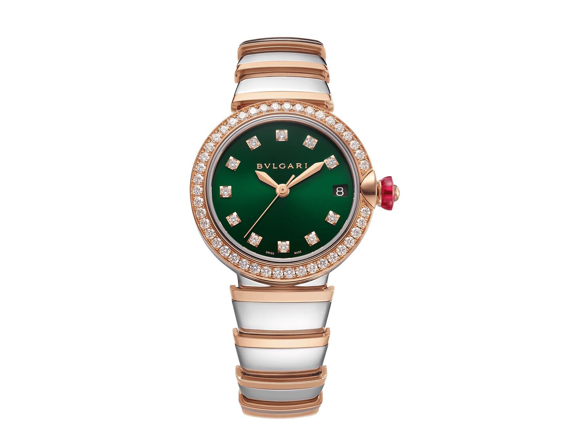ساعة خضراء من بولغاري Bvlgari