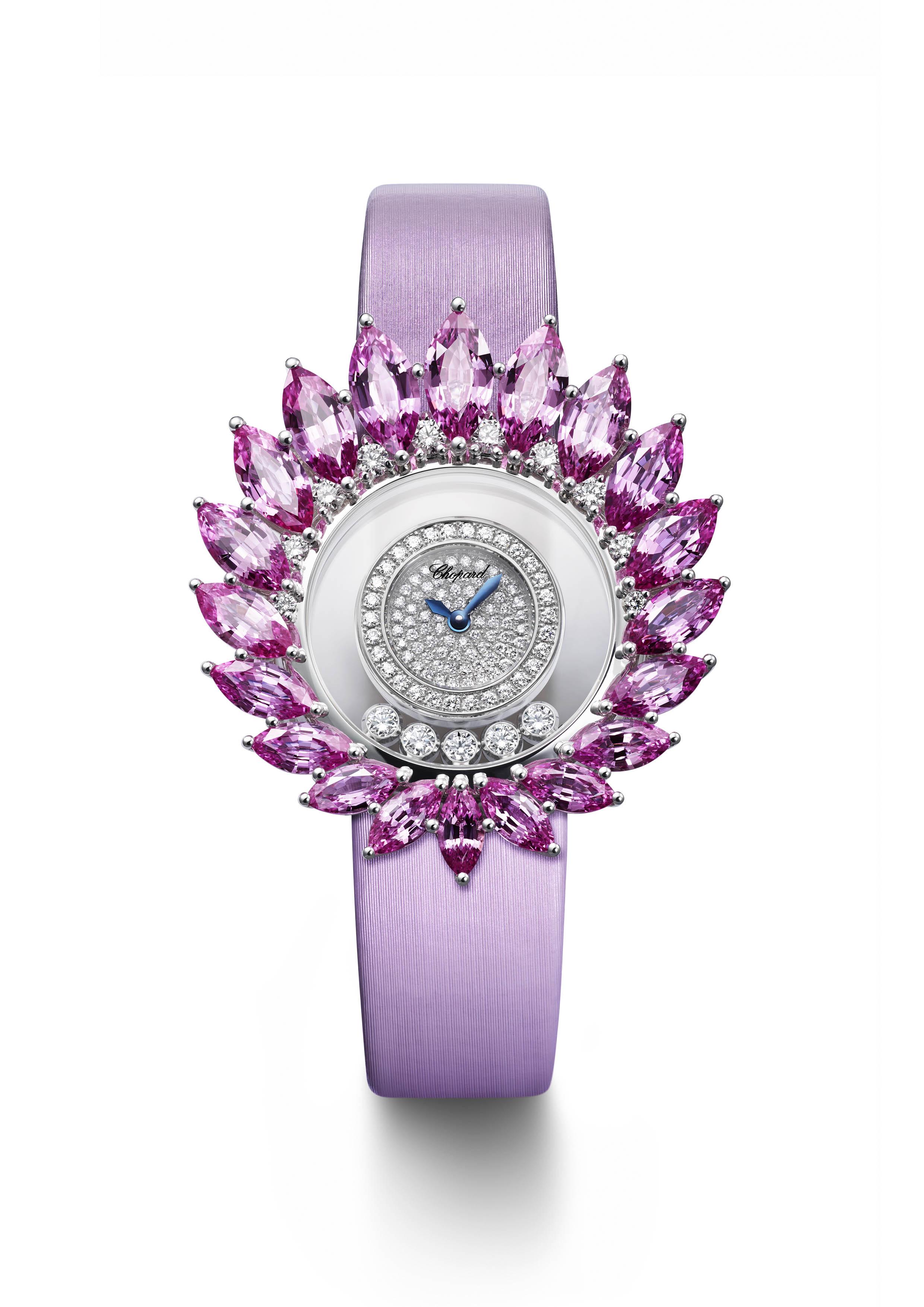 ساعة Haute Joaillerie باللون الوردي من شوبارد Chopard