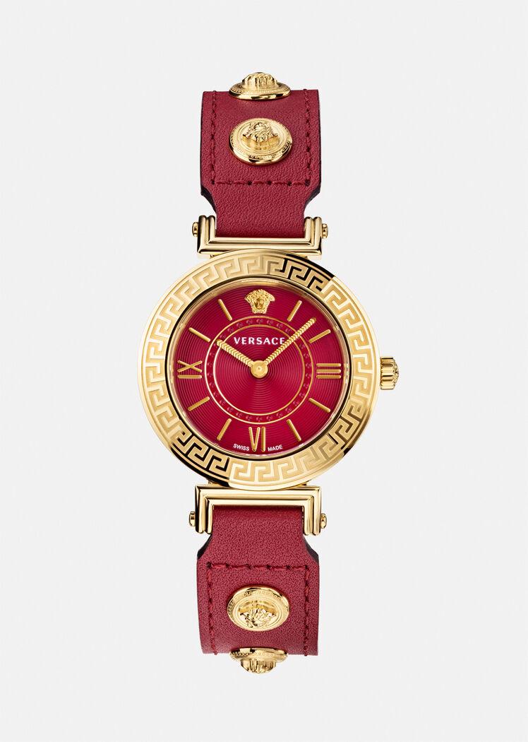 ساعة حمراء من فيرساتشي «Versace»