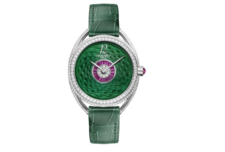 ساعة بمينا خضراء من شوميه Chaumet
