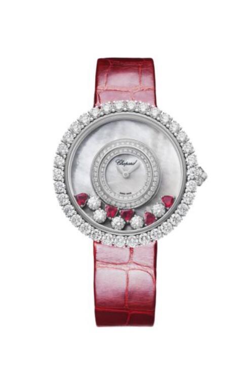 ساعة مرصعة بالحجر الأحمر، من شوبارد Chopard