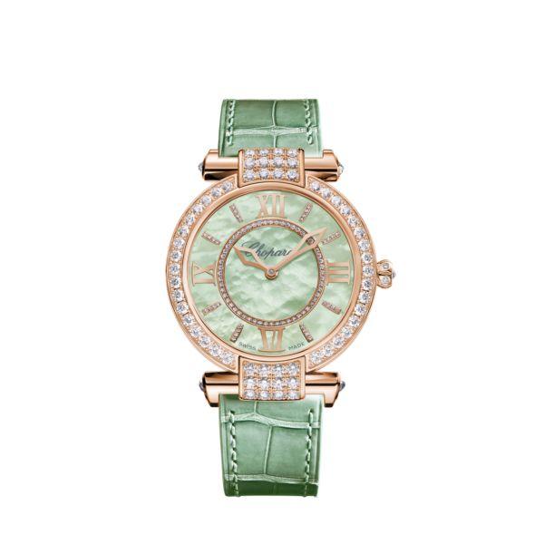 ساعة باللون الأخضرمن شوبارد Chopard