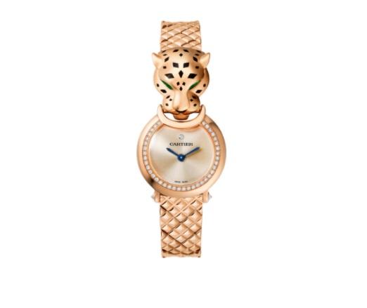 ساعة من الذهب الوردي من كارتييهCartier