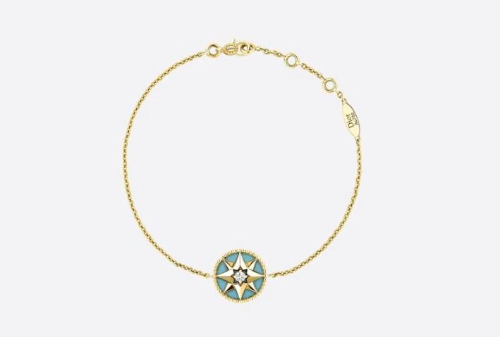 سلسلة من الذهب مرصعة بحجر الفيروز من ديور «Dior»