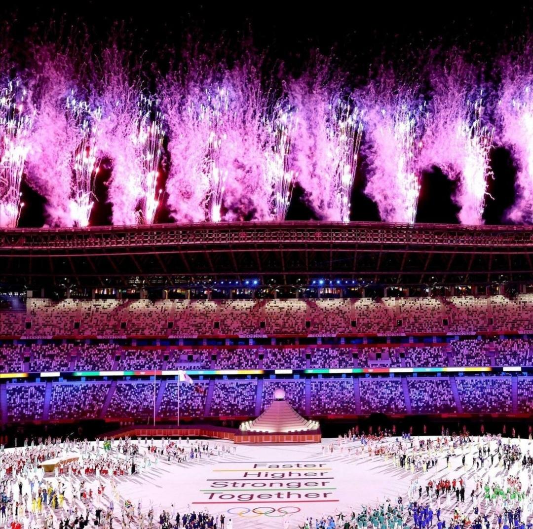 الإضاءة المبهرة- الصورة من حساب دورة الألعاب على إنستغرام