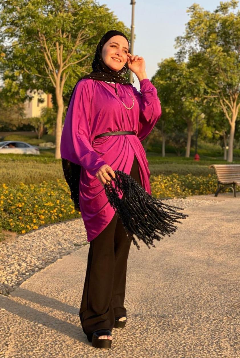 5 حبيبة منيسي باطلالة سواريه -الصورة من حسابها على الانستغرام