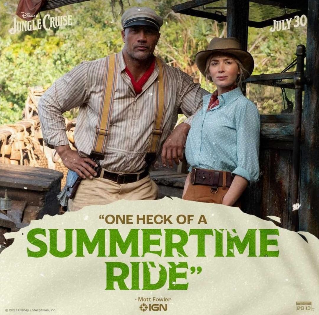 دواين جونسون وإميلي بلانت - الصورة من حساب الفيلم على إنستغرام