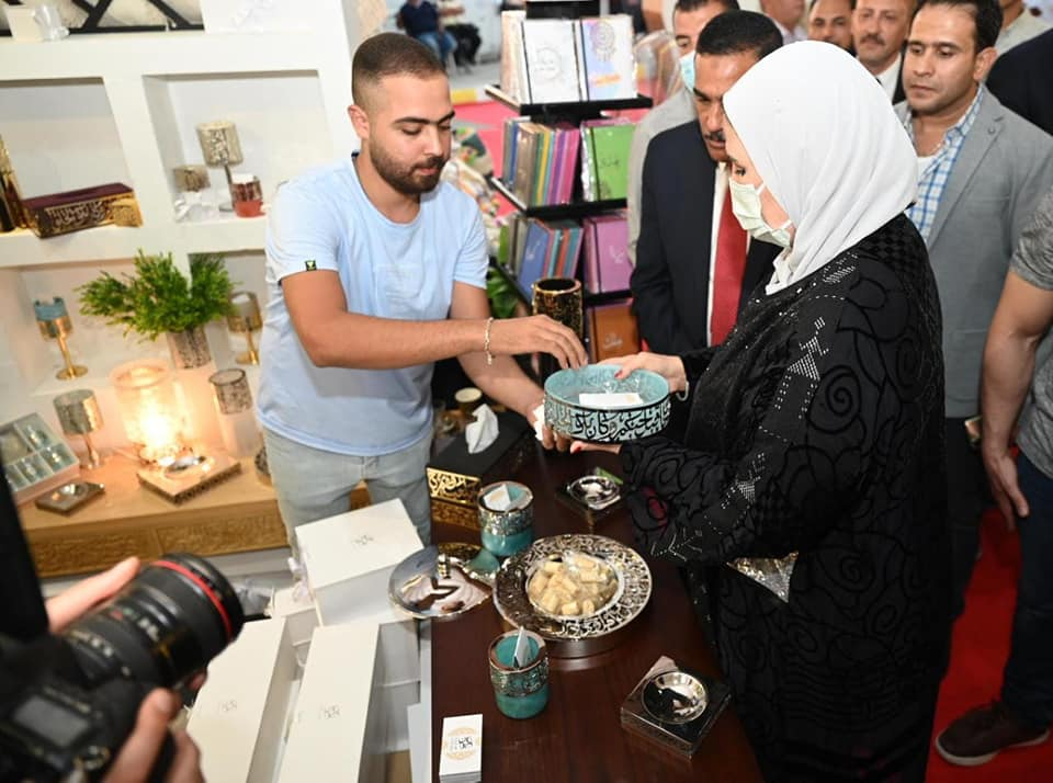 افتتاح معرض الحرف التراثيية  - فيس بوك وزارة التضامن المصرية