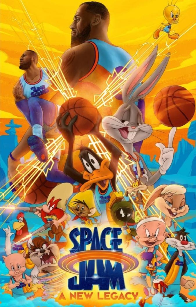 فيلم Space Jam- الصورة من حساب الفيلم على إنستغرام