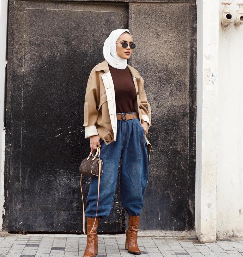 أفكار لارتداء البنطلونات الواسعة بأسلوب شتوي