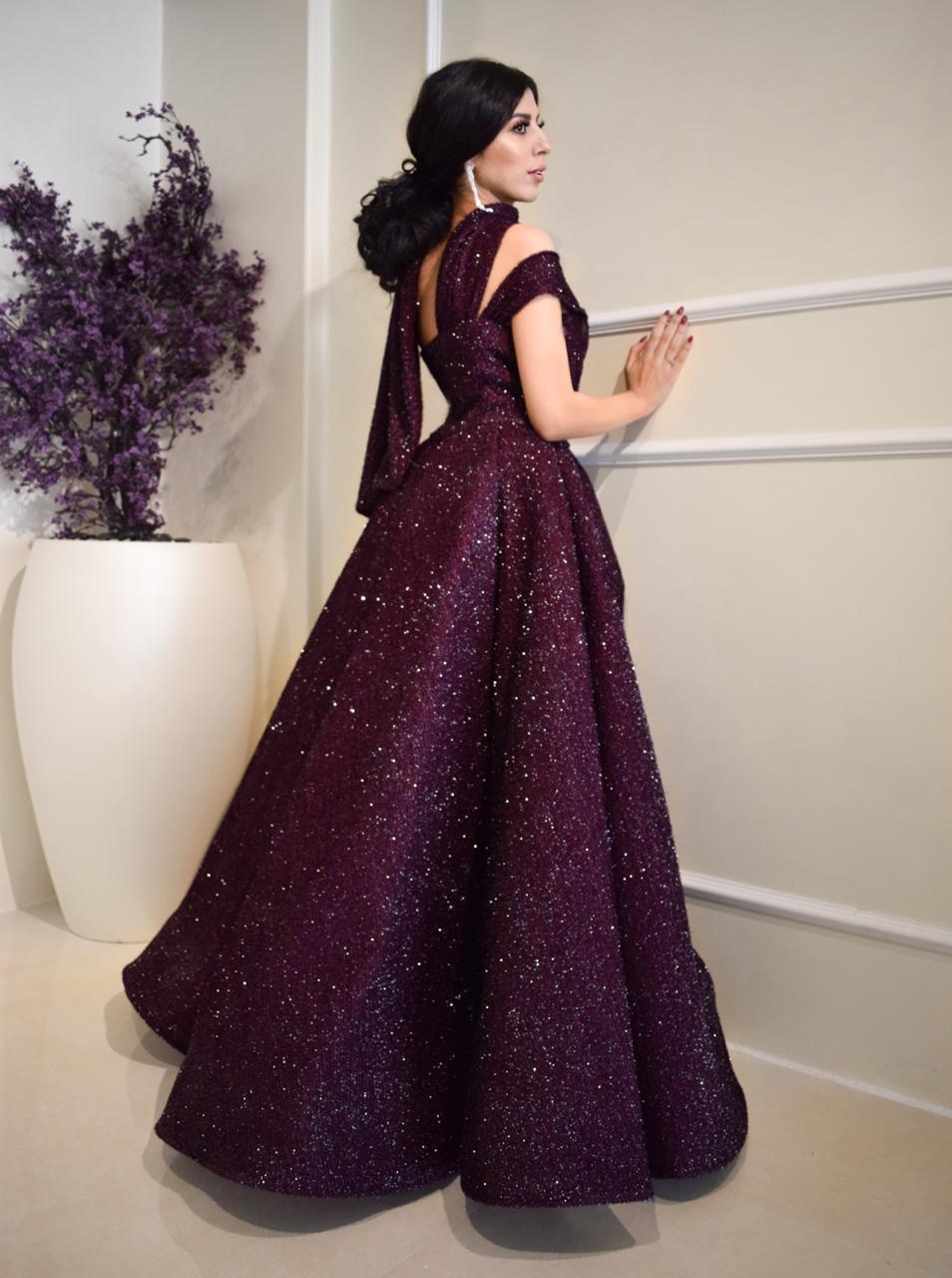 فستان من توقيع المصممة بلقيس القضيب