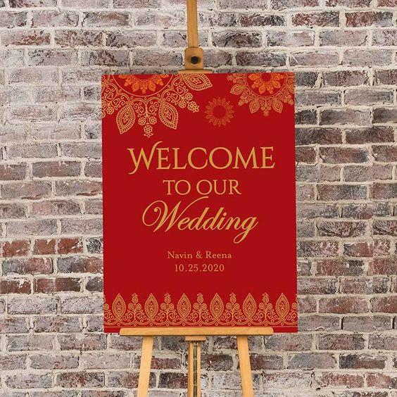 لافتة استقبال الضيوف