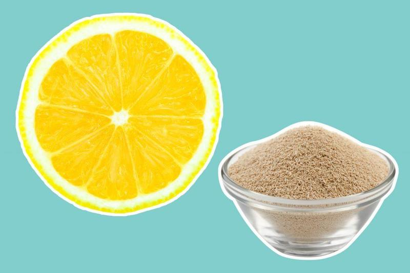 خلطة الخميرة والليمون الحامض